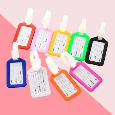 8 pcs Luggage Tag Suitcase Handbag Colorful Name Silicone PVC Tag for Traveling