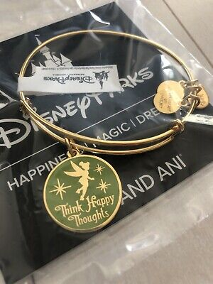 Alex and Ani Disney Tink Happy Thoughts Tinkerbell Green Bangle Bracelet