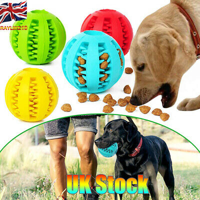 Pet Dog Puppy Teething Dental Healthy Treat Clean Toy Durable Rubber Ball Chew