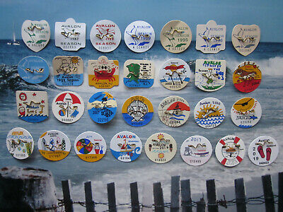 27   Year  Collection  Avalon   New   Jersey   Seasonal   Beach   Badges/Tags