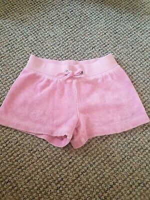 Juicy Couture pink towel Shorts Girls Age 2