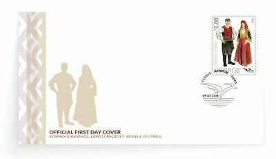 CYPRUS/2019, (FDC) Euromed (Mediterranean Costumes), MNH