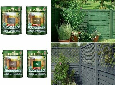 CUPRINOL DUCKSBACK Garden Shed & Fence Paint Quick Dry Paints Wood Stain 5 Litre