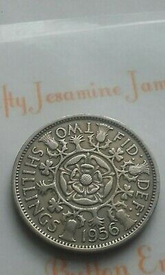 British Florin Queen Elizabeth II 1956 Two Shilling Birthday Coin Jewellery Make