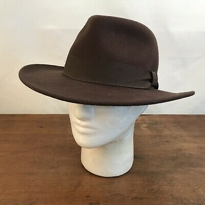 c74aec71 HAT STETSON EXPEDITION Cowboy Indiana Jones Mens Size M Medium Brown ...