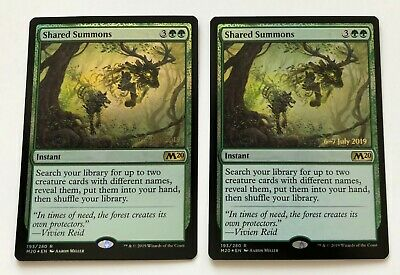 MTG Magic - [1x] SHARED SUMMONS  M20 Core set 2020 - FOIL NM prerelease