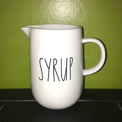 """New RAE DUNN Artisan Collection LL """"SYRUP"""" Pitcher By Magenta"""