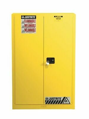 JUSTRITE 894510 Flammable Cabinet, 60 gal., Yellow