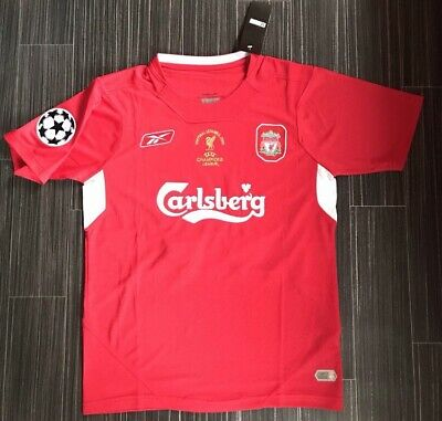 Mens Liverpool Alonso 14 2005 Home Red Football T Shirt Size L Bnwt