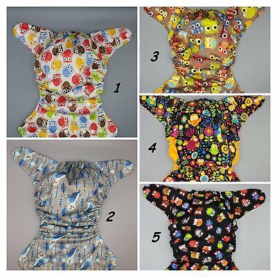 SassyCloth one size pocket cloth diaper with Owls prints.