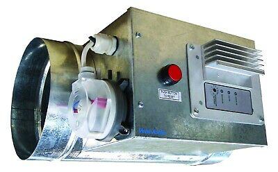 Vent Axia AIRTRAK Duct Air Heater TC1 INC tc8 CONTROLLER 4kW OUTPUT