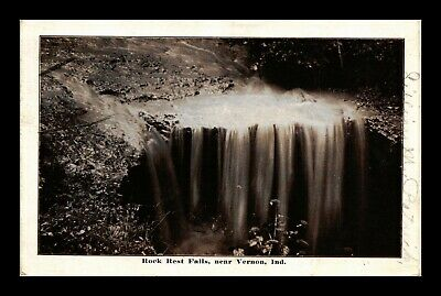Dr Jim Stamps Us Rock Rest Falls Vernon Indiana View Postcard