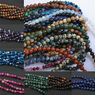 Wholesale Natural Gemstone Round Charms Loose Spacer Beads 6MM 8MM Bracelet Hot