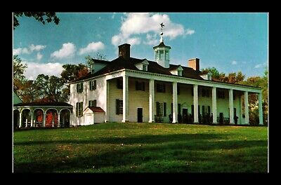 Dr Jim Stamps Us East Front View Mt Vernon Washington Home Virginia Postcard
