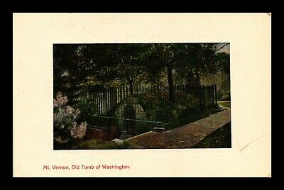Dr Jim Stamps Us Mt Vernon Old Tomb Of Washington View Postcard