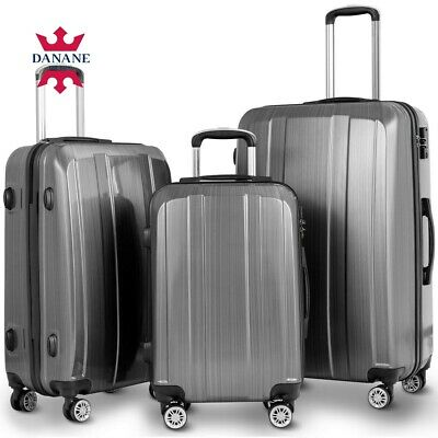3 Pcs Travel Luggage Set Bag High Quality ABS with Lock (20 24 28 inch)