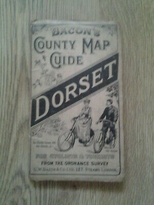 Bacons County Map For Cyclists & Tourists Dorset. c1880s. Excellent condition