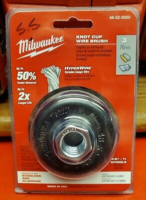 "Milwaukee 3"" knot cup wire brush 48-52-5050"