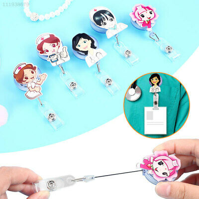 C985 Retractable Badge Holder School Key Exhibiton Badge Buckle Name Card