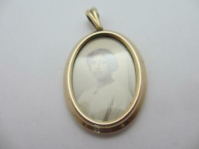 18k Gold Fix Double Pendant Locket Antique Victorian c1900. tbj07917