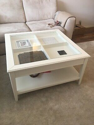 Coffee Table Ikea Liatorp Whiteglass 5100 Picclick Uk