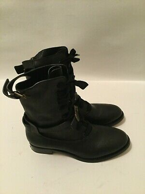 7b7233a2 CHLOE OTTO BLACK Leather Mid - Calves Boots, Size 10 - $200.00 ...