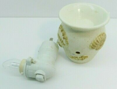 Scentsy Plug In Night Light Wax Warmer Seashells Ocean Shells Nautical Retired