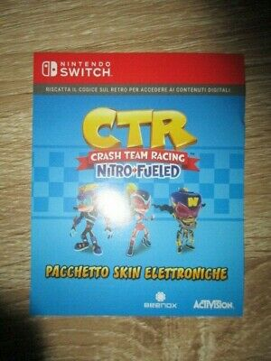 CTR Crash Team Racing Nitro Fueled SWITCH SKINS ELECTRON PACK DLC CODE Digital