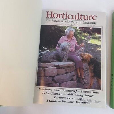 Huge Vintage Lot of 28 Horticulture Magazine Issues 1985 - 1988 3 Bound Books