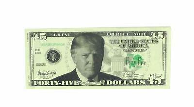 A Ross and Company Donald Trump 45th President Billion Dollar Bill 25 Count