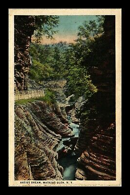 Dr Jim Stamps Us Watkins Glen New York View Postcard Ct American