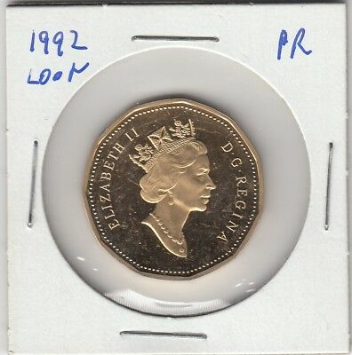 1867 - 1992 $1 Canada - Proof Loonie Dollar - From Mint Set UHCameo Loon SALE