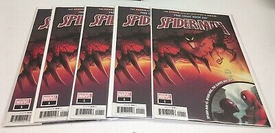 Lot Of 5 2019 FCBD SPIDER-MAN #1 Absolute Carnage Venom Free Comic Book Day lot