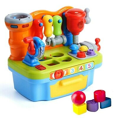 Woby Multifunctional Musical Learning Tool Workbench Toy Set for Kids with Sh...