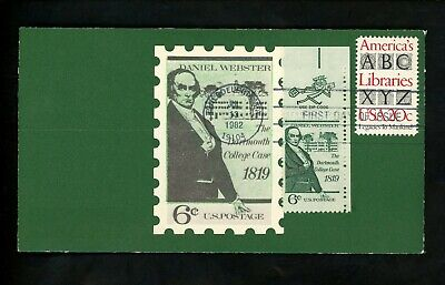 Ranto Cachet US FDC #2015 on 1380 America's Libraries Daniel Webster 1982