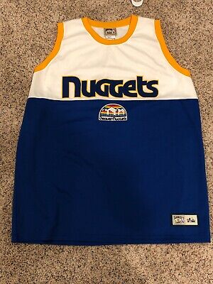reputable site a20c9 641d8 DENVER NUGGETS RAINBOW city throwback majestic hardwood ...