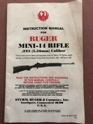 Ruger mini 14 instructions