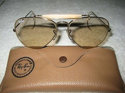 Vintage B&L Ray Ban Changeable BRN Aviator Outdoorsman 62mm NEW w/o Tags Cables