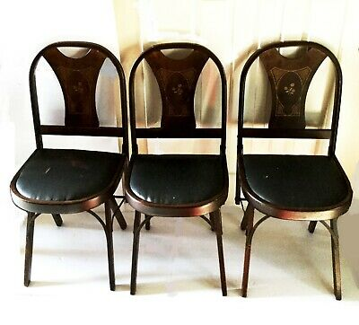 Antique chairs. Wooden folding. 1920's. Solid Kumfort by Louis Rastetter & Sons