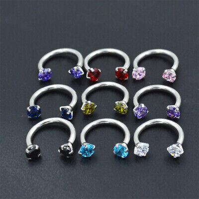 Fashion Nose Lip Ring Hoop Bar Ear Lip Cartilage Helix Tragus Septum Piercing