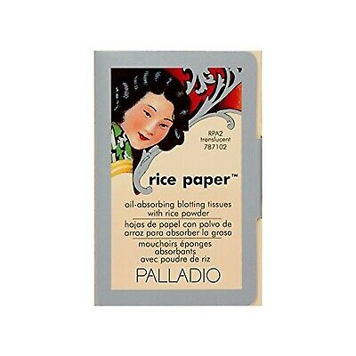 Palladio Rice Paper Tissues, Translucent, Face Blotting Sheets with Natural R...
