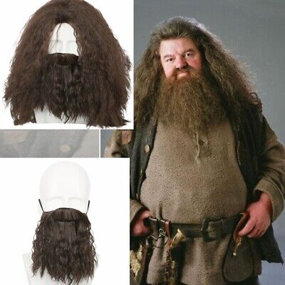 Gray Curly Short Wig Full Beard Set for Cosplay Party God Zeus Costume HM-620