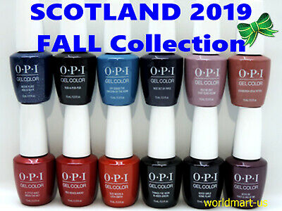 OPI GelColor Nail Polish Gel SCOTLAND Collection Set of 12 Colors
