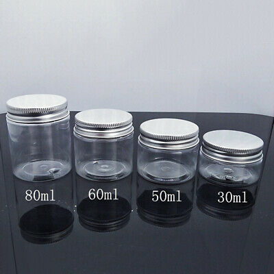 30-80ml Clear Plastic Cosmetic Cream Storage Jar Travel Empty Refillable Bottle