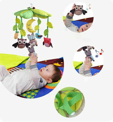 Owl Treetop Friends Musical Mobile Baby Wind Up Crib Musical Cot Mobile 0M+