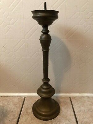 ANTIQUE BRASS CANDLESTICK APPROX 17th-18th CENTURY RARE-AUTHENTIC