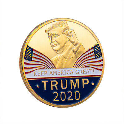 2020 President Donald Trump KEEP AMERICA GREAT Plated EAGLE Coins AU