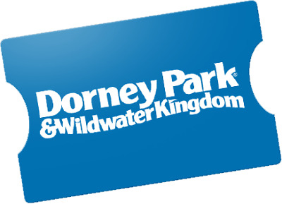 4 DORNEY PARK THEME PARK TICKETS - Adult or Child - Allentown, PA