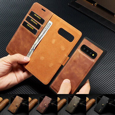 Genuine DG.MING Vintage Leather Wallet Case Cover For Samsung Galaxy A10 A50 A70