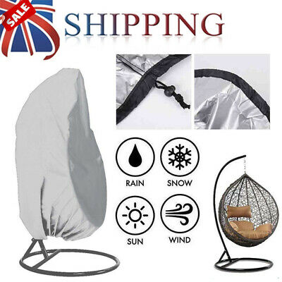 Silver Garden Patio Hanging Swing Chair Cover Rattan Egg Seat Protect Waterproof